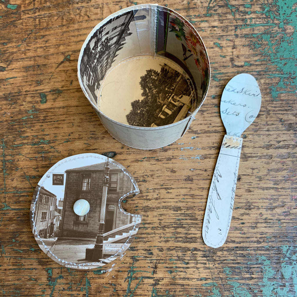 Paper Sugar Pot & Spoon