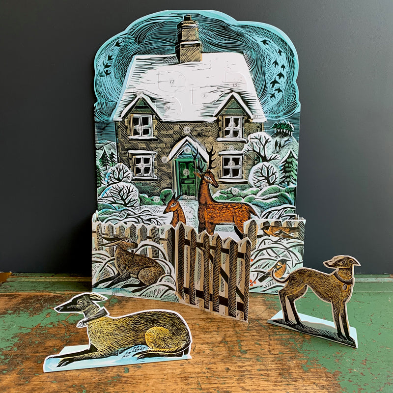 Advent Calendar By Angela Harding 'Christmas Cottage'