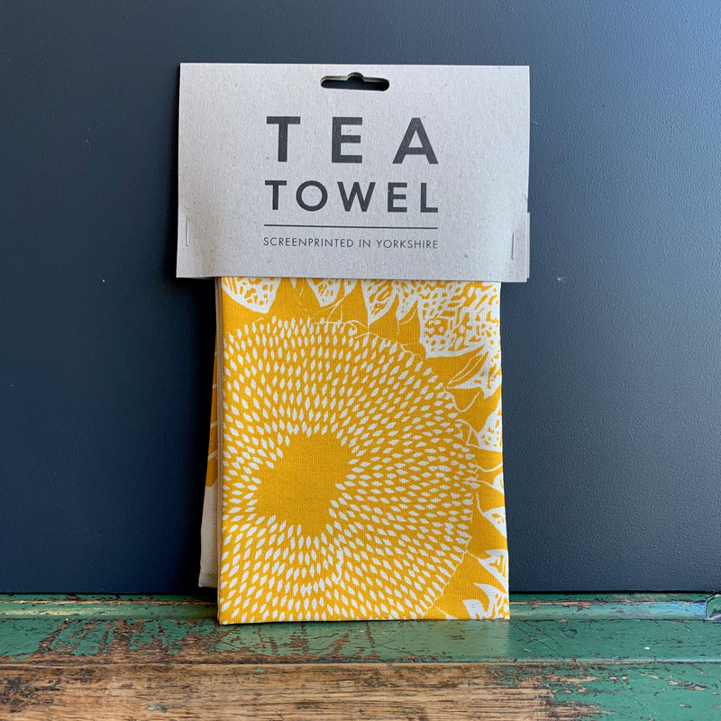 Screenprinted 'Sunflower' Tea Towel