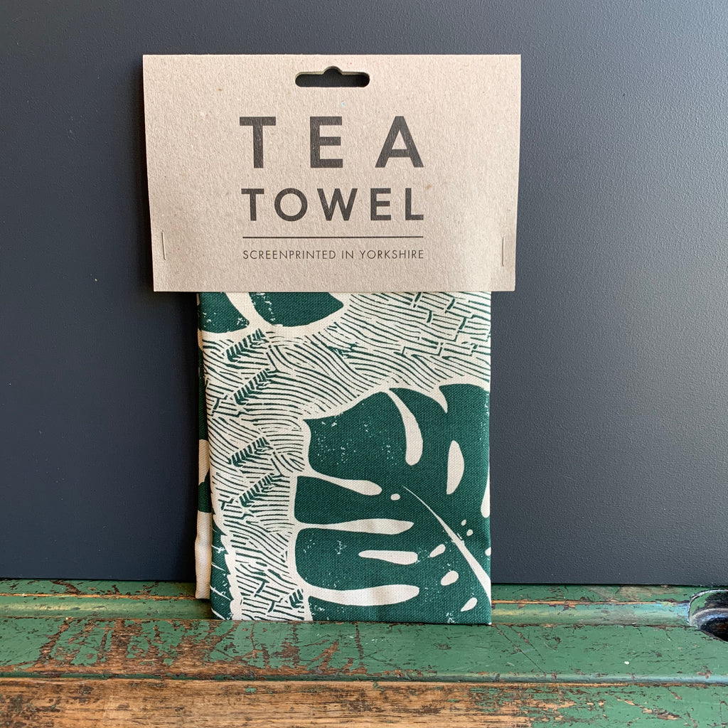 Screenprinted 'Leaf' Tea Towel