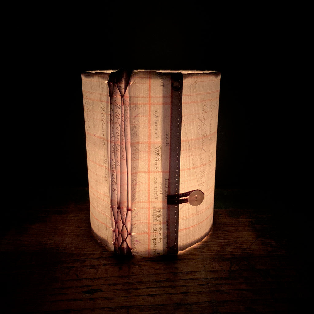 Stitched Paper Lantern 'Smocked Ledger'
