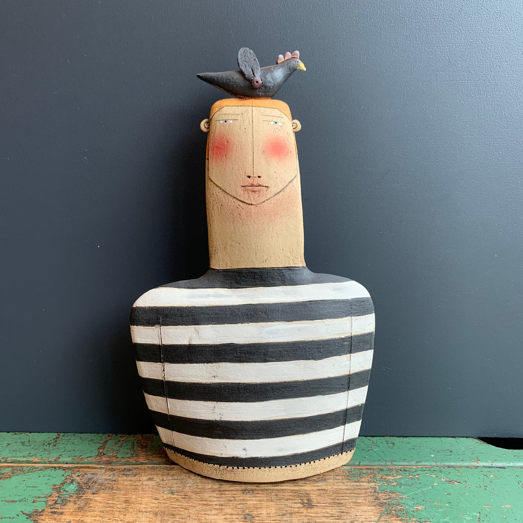 Ceramic Figure 'Frank & Bobo the Bird'