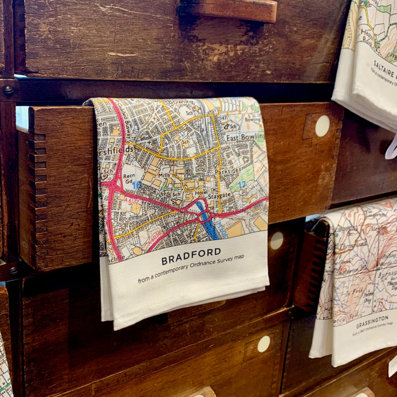 OS Map Tea Towel 'Bradford'