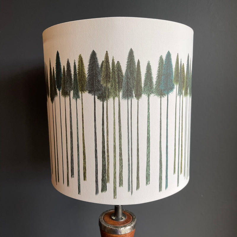 20cm Lamp Shade 'Green Trees'