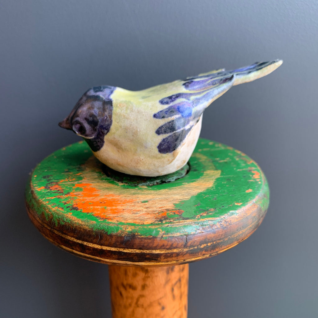 Stoneware Bird 'Great Tit'