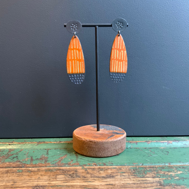 Big Island Drop Earrings 'Orange'