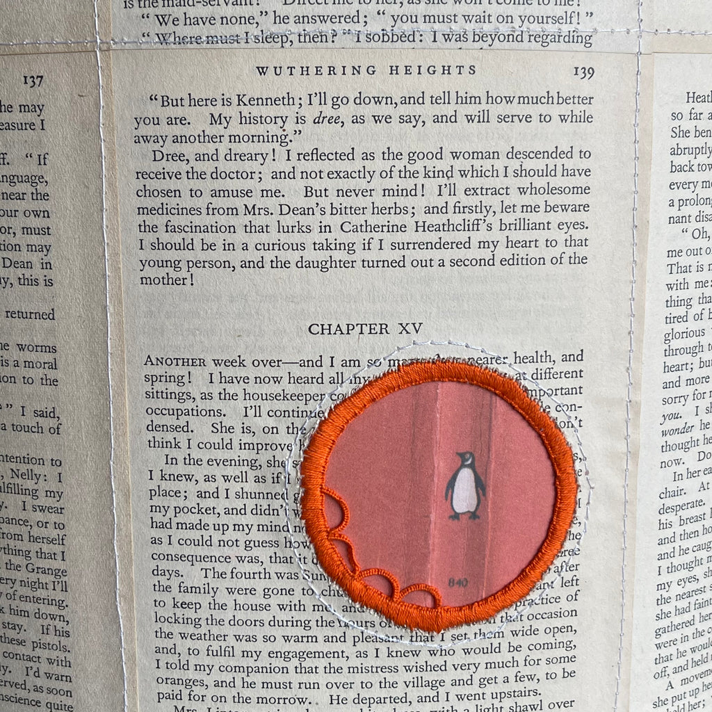 Paper Lozenge Shade - Medium - Penguin Orange - Brontë Wuthering Heights