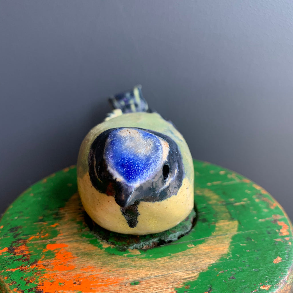 Stoneware Bird 'Blue Tit'