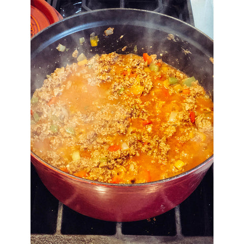 AIR AND ANCHOR Cooking Killer Chili on the Stove