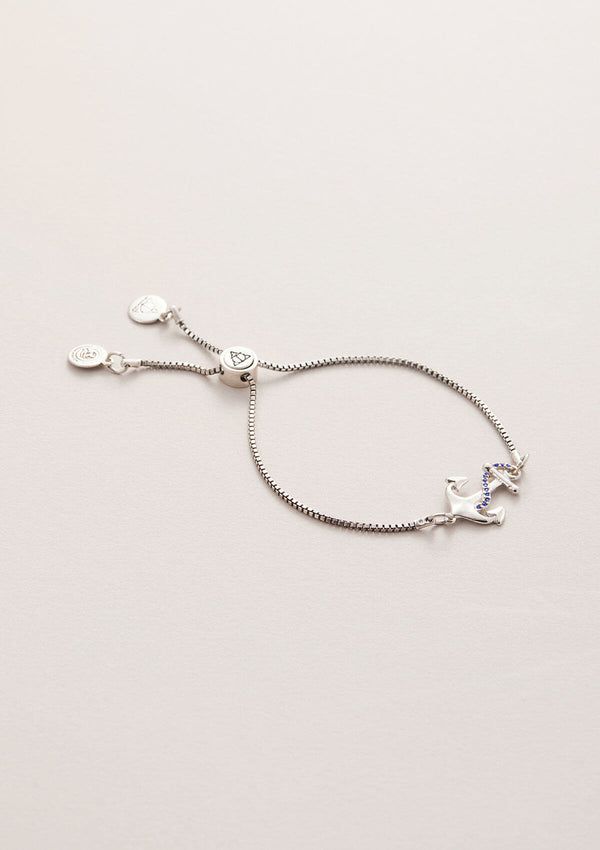 Anchor Crystal Adjustable Chain Bracelet