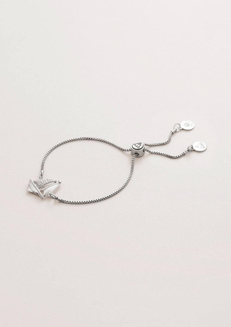 Sailboat Crystal Adjustable Chain Bracelet