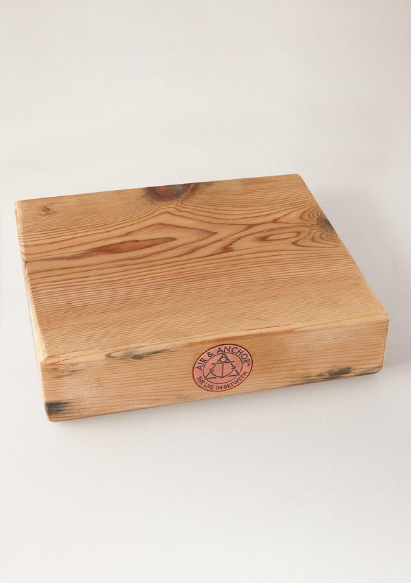 "Chestnut AIR AND ANCHOR Serving Board, 12"" x 11""  with Handles"