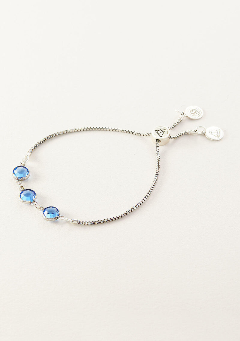 Women's Color Connection Bracelet | Sapphire Channel Crystals