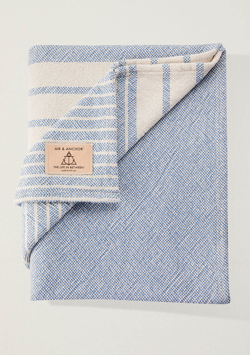 Air and Anchor Even Keel Throw | Navy Striped