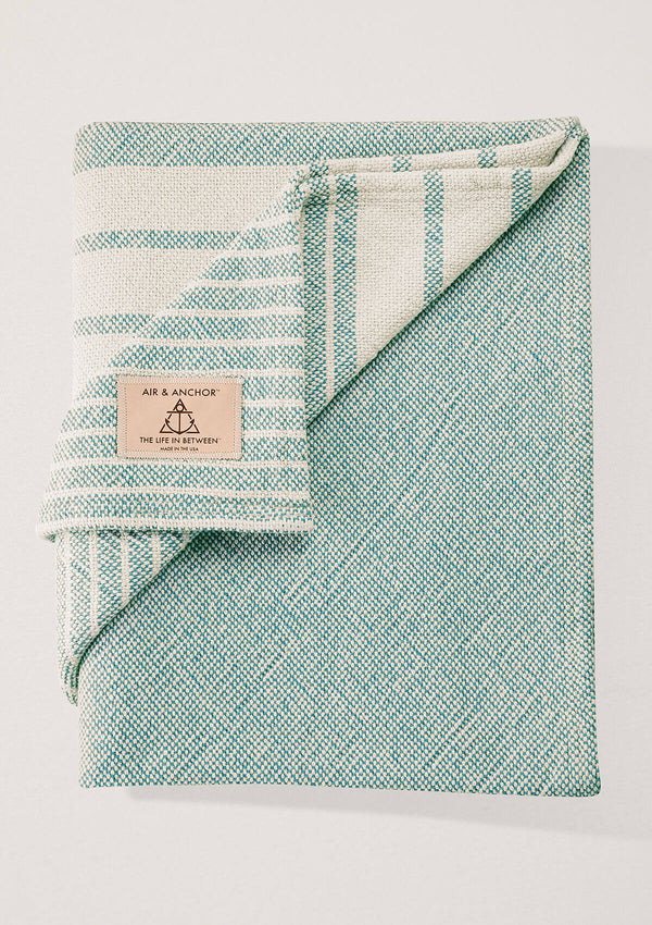 Air and Anchor Even Keel Throw | Moss Striped