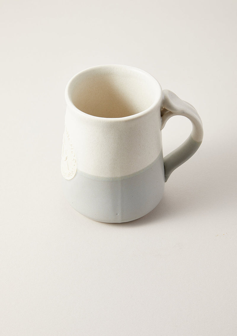 Side view of the AIR AND ANCHOR Coffee Mug in Matte Grey with Side Handle visible.