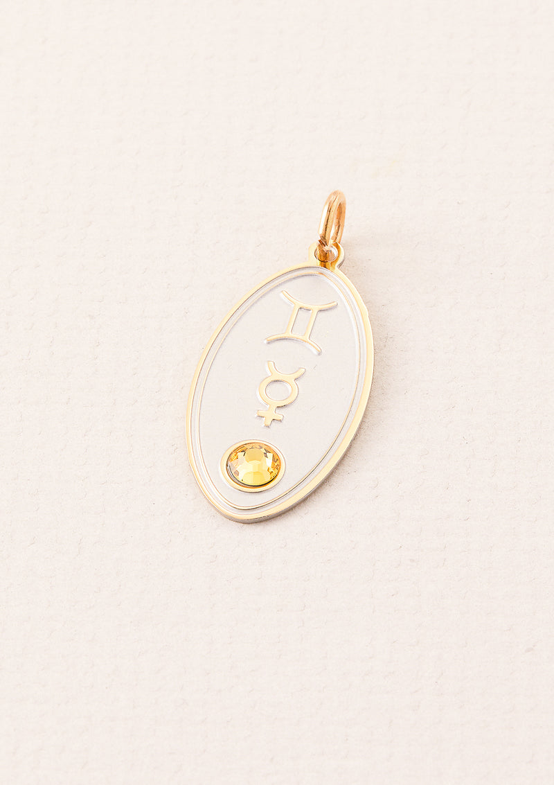 Gemini Zodiac Charm | Ruled by Mercury | Element Air