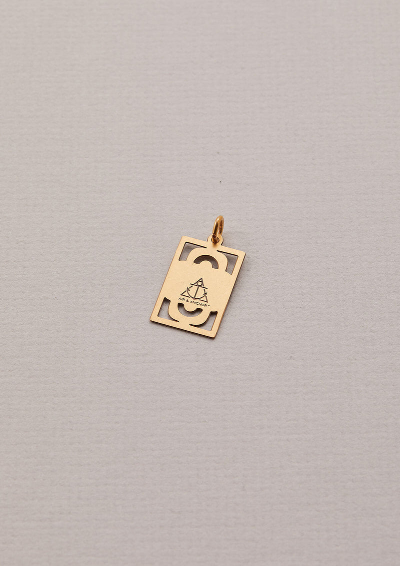 Back of AIR AND ANCHOR's Grateful for It All Necklace Charm in Gold