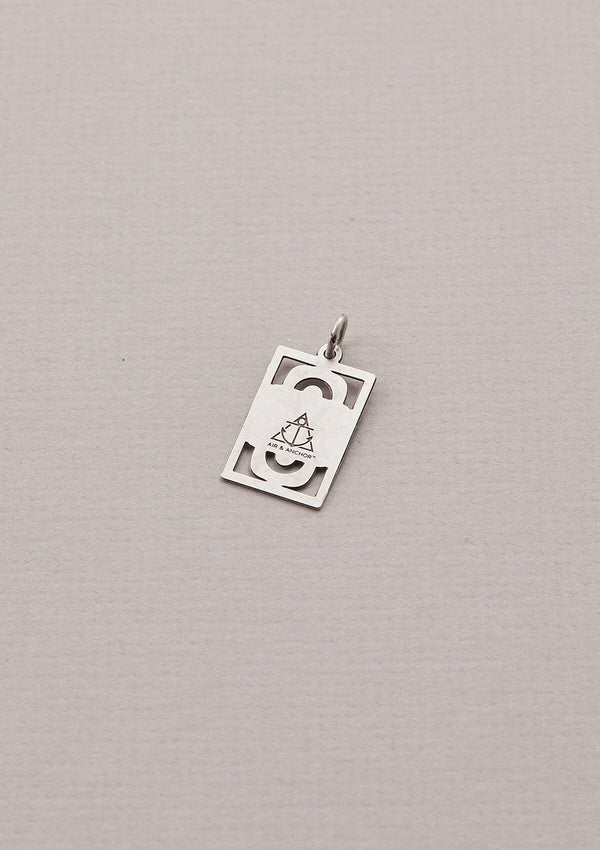 Back of AIR AND ANCHOR's Grateful for It All Necklace Charm in Silver