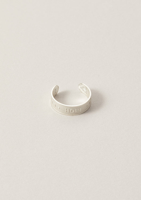 Hope Wise Word Band Adjustable Ring in Sterling Silver