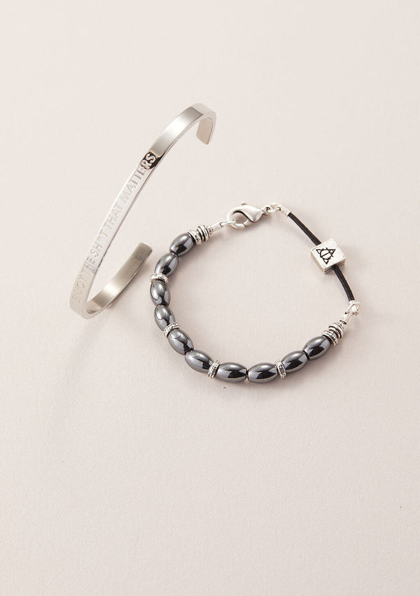 AIR AND ANCHOR's It's Your Call Men's Bracelet Set