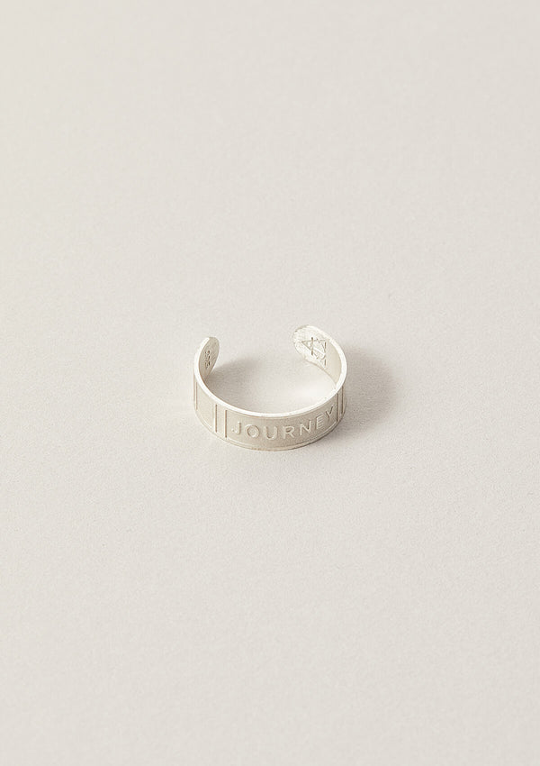 Journey Cigar Word Band Ring in Sterling Silver