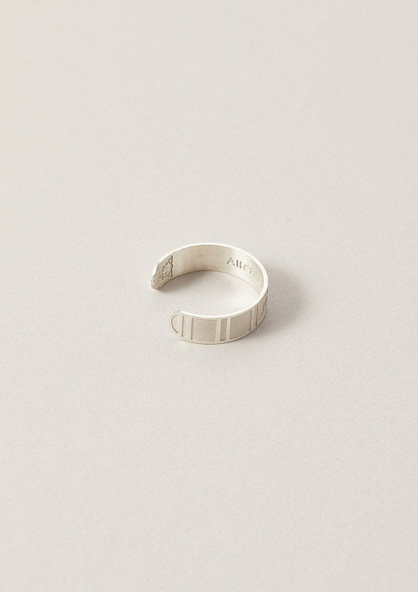 Journey Cigar Word Band Ring in Sterling Silver with side details