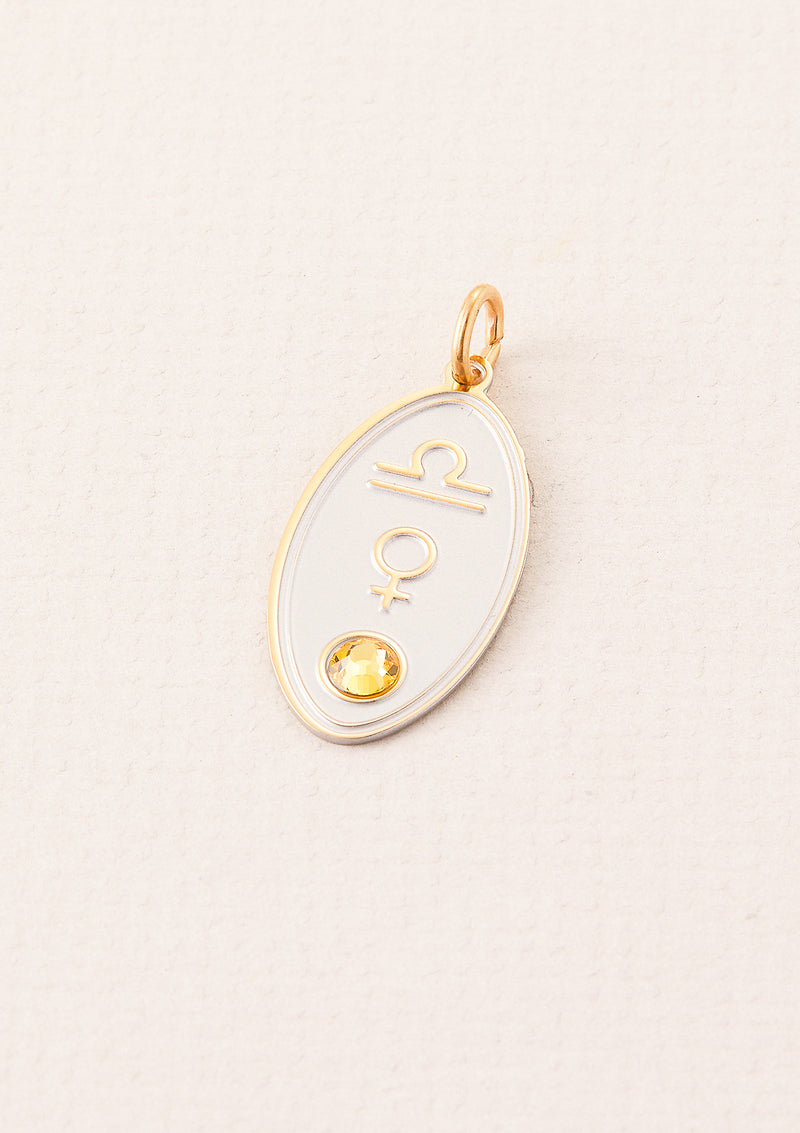 Libra Zodiac Charm | Ruled by Venus | Element Air