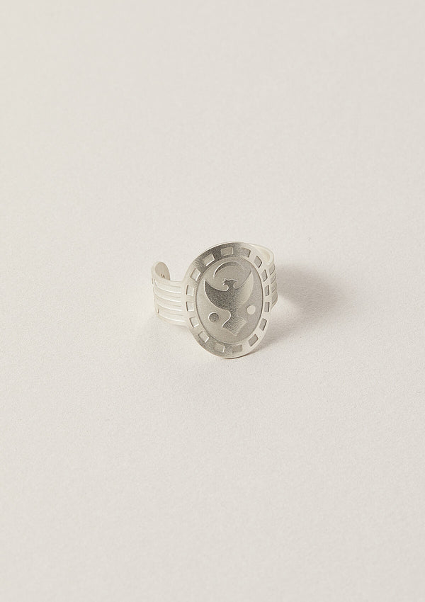 Phoenix Cigar Band Ring in Sterling Silver