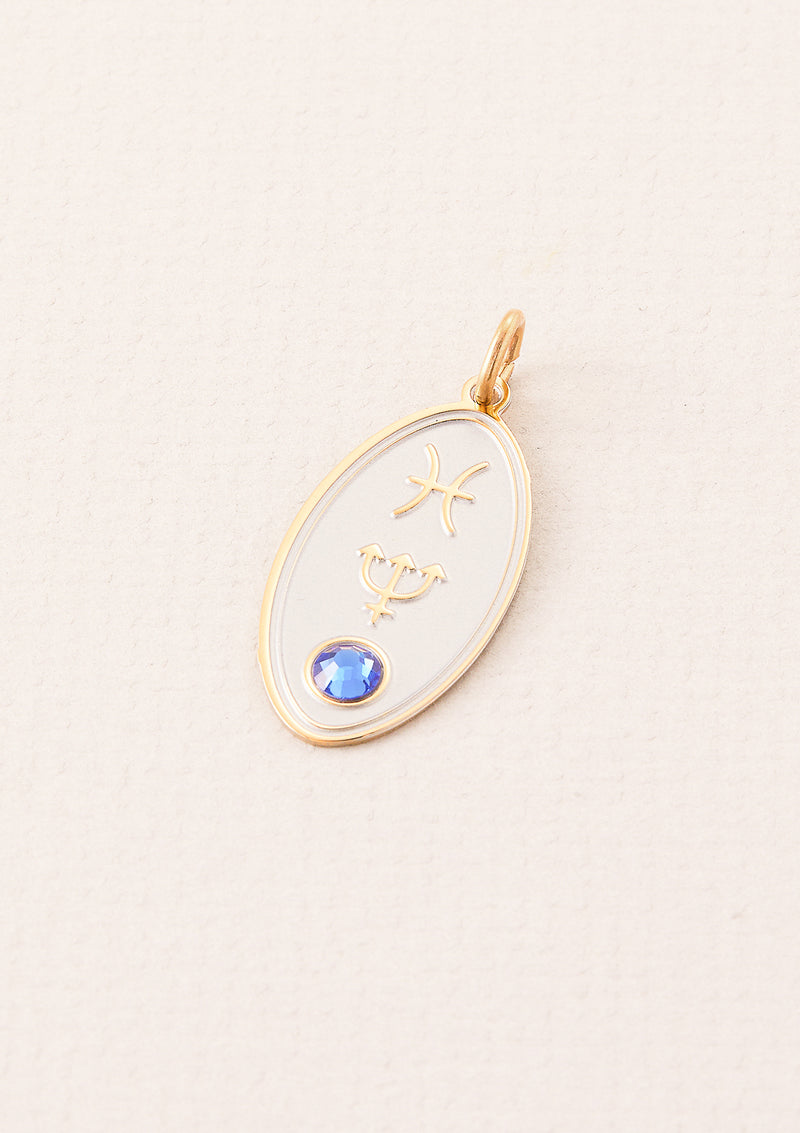 Pisces Zodiac Charm | Ruled by Neptune | Element Water