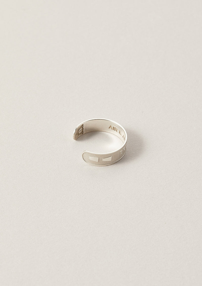 Protection Wise Word Adjustable Ring in Sterling Silver with side details