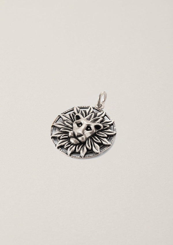 Radiating Courage Lion Necklace Pendant Charm
