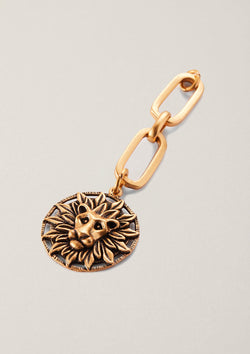 Radiating Courage Lion Necklace Pendant with Kinship Extender