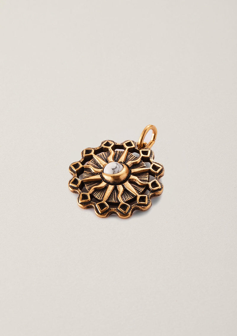 Universal Balance Sun and Moon Necklace Pendant Charm