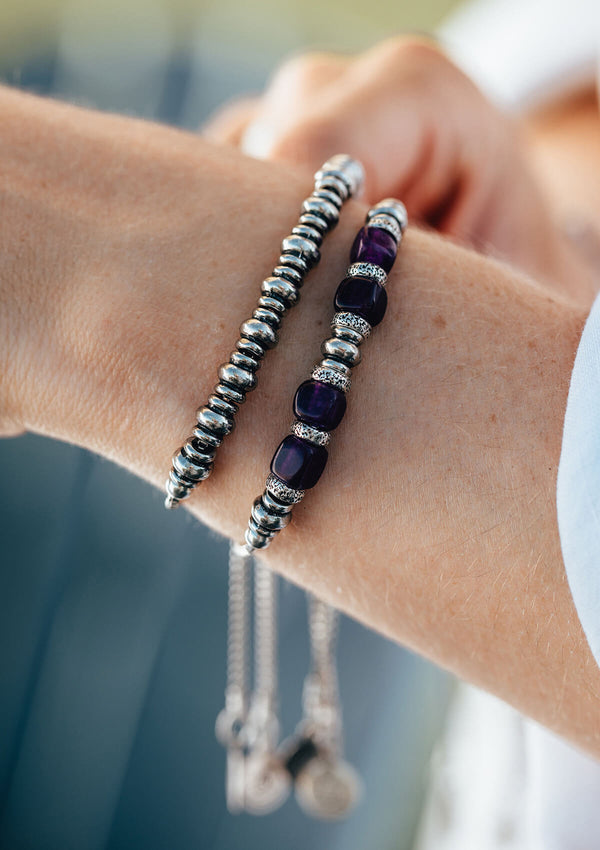 Chill Out! Amethyst Beaded Adjustable Chain Bracelet