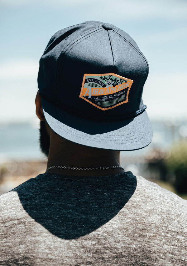 Snap Back Hat in Navy with Life in Between Patch