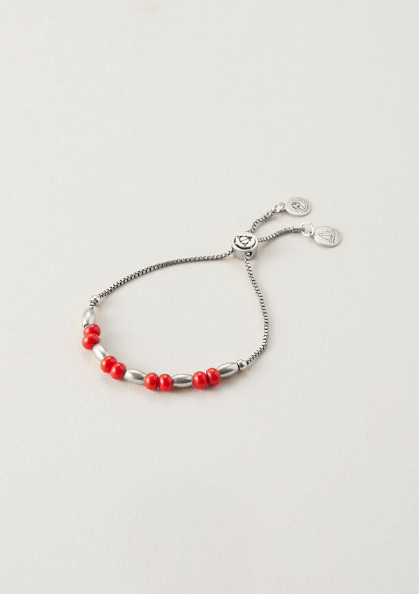 Holly Berry Beaded Bracelet