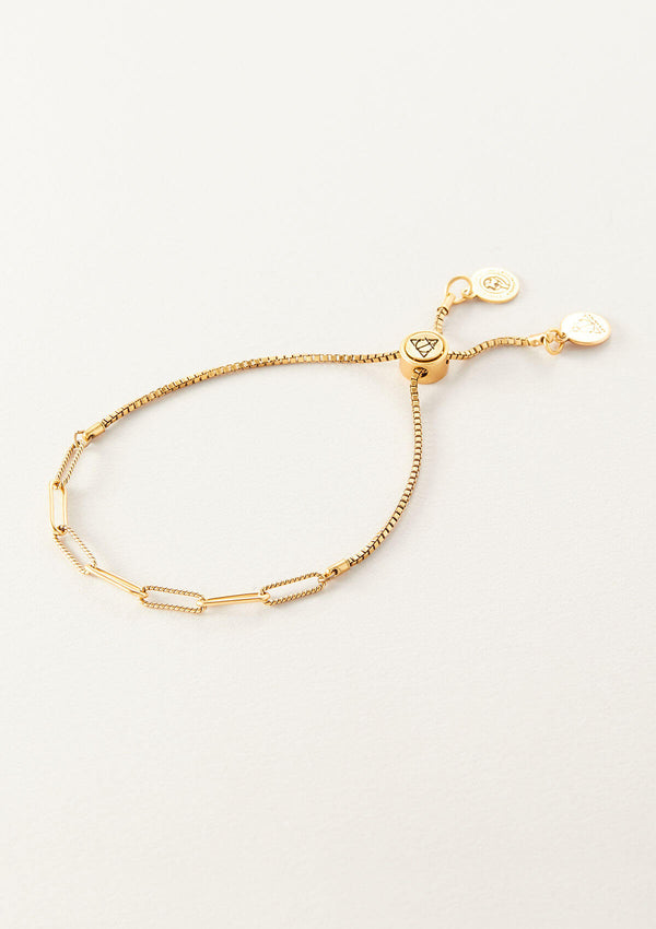 AIR AND ANCHOR's Paper Clip Chain Bracelet in Gold