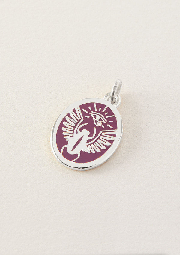 Always Journeying Purple Scarab Necklace Pendant