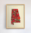 Alabama Native Botanicals Print