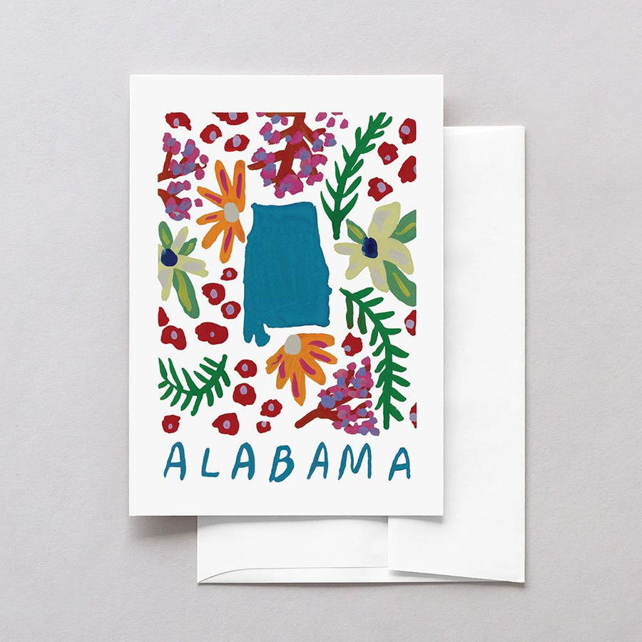 Alabama American Gouache Greeting Card