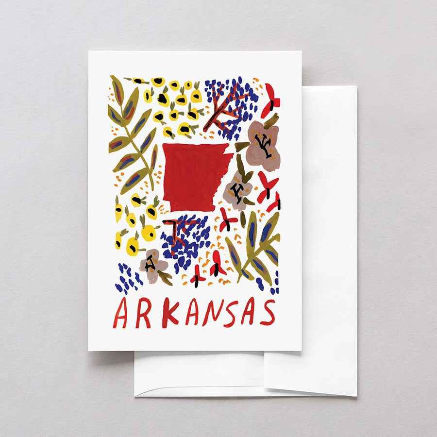 Arkansas American Gouache Greeting Card