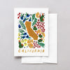California American Gouache Greeting Card