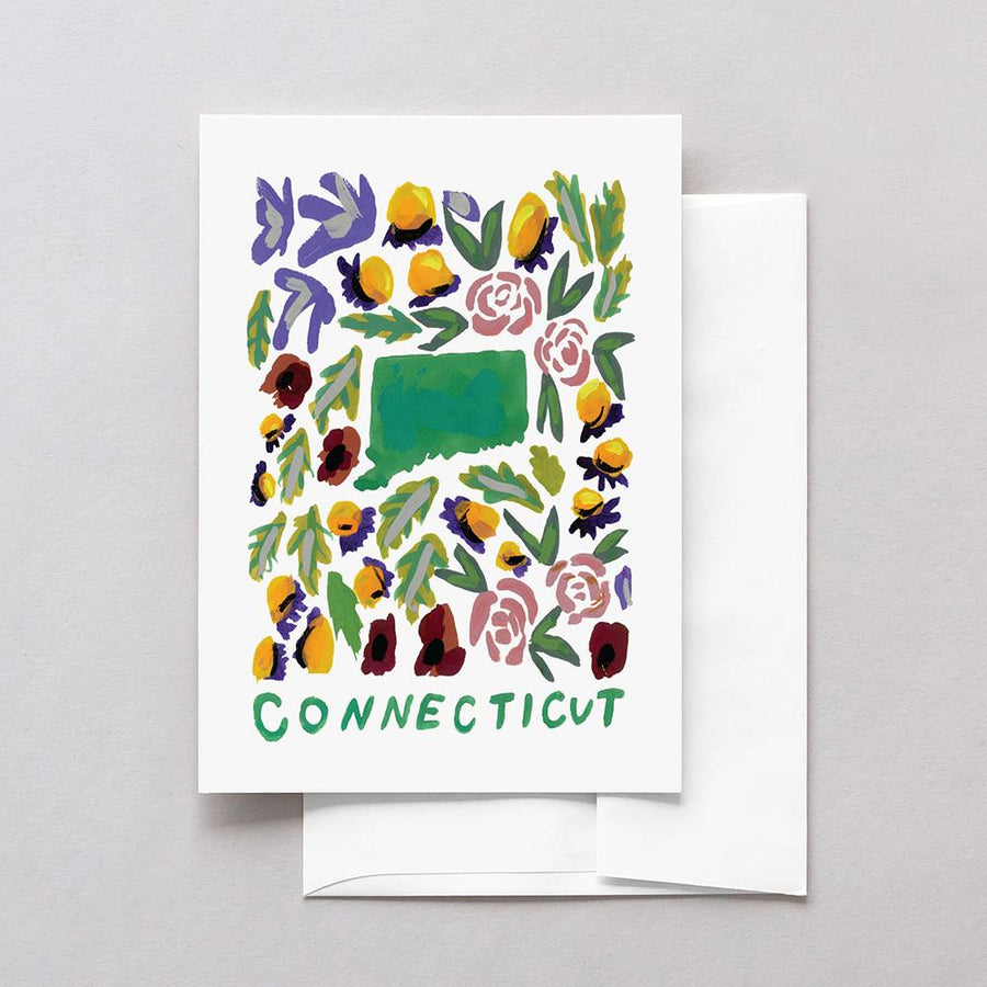 Connecticut American Gouache Greeting Card