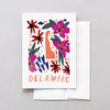 Delaware American Gouache Greeting Card