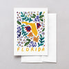Florida American Gouache Greeting Card