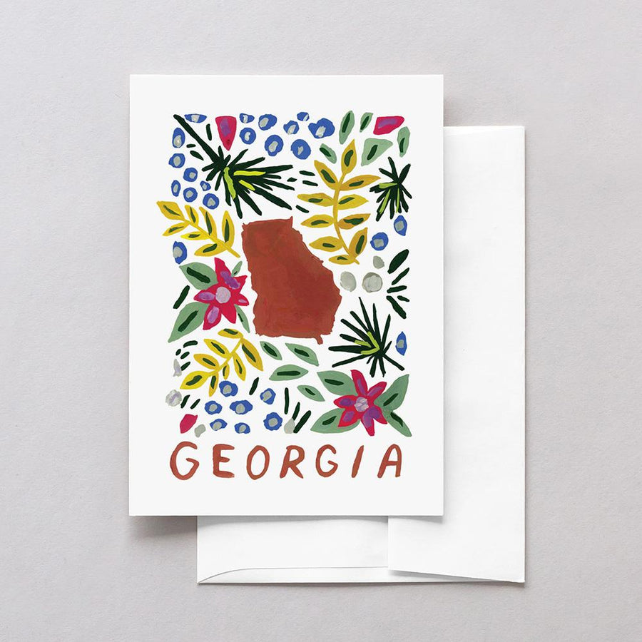 Georgia American Gouache Greeting Card
