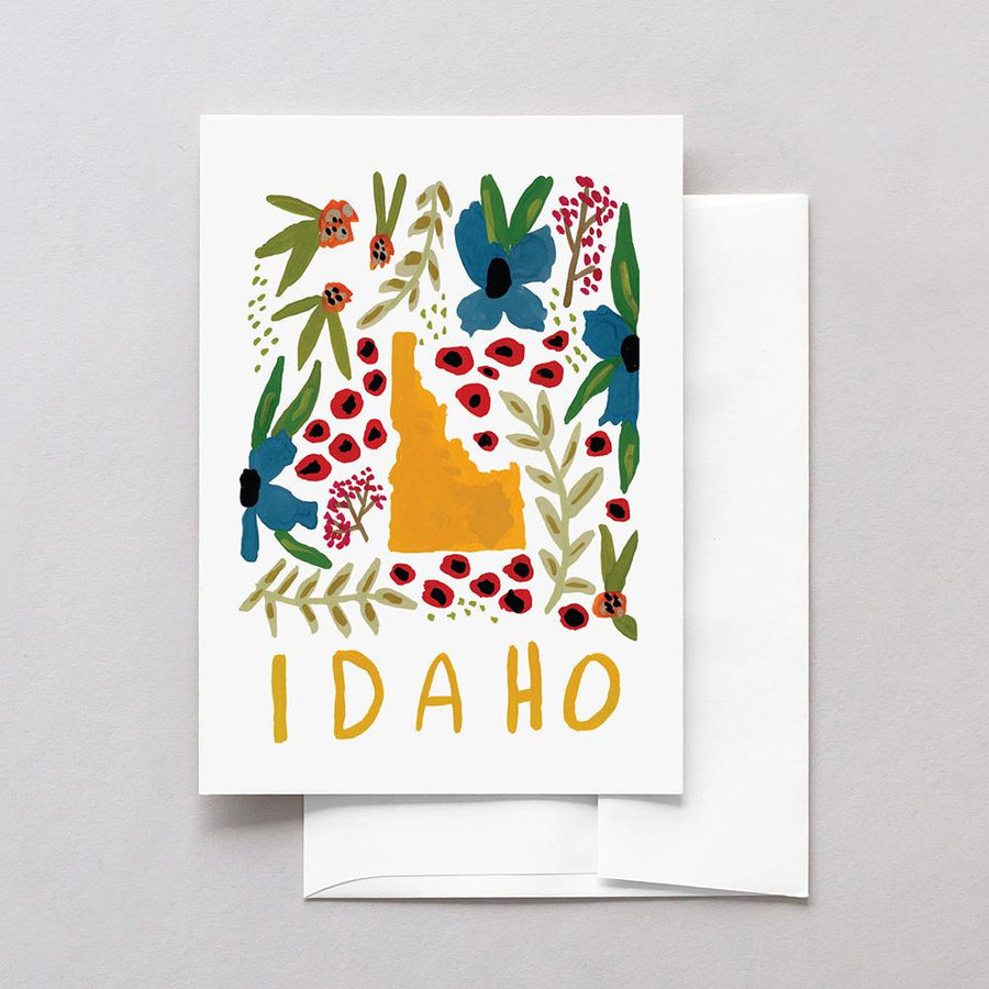 Idaho American Gouache Greeting Card