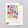 Illinois American Gouache Greeting Card