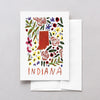 Indiana American Gouache Greeting Card